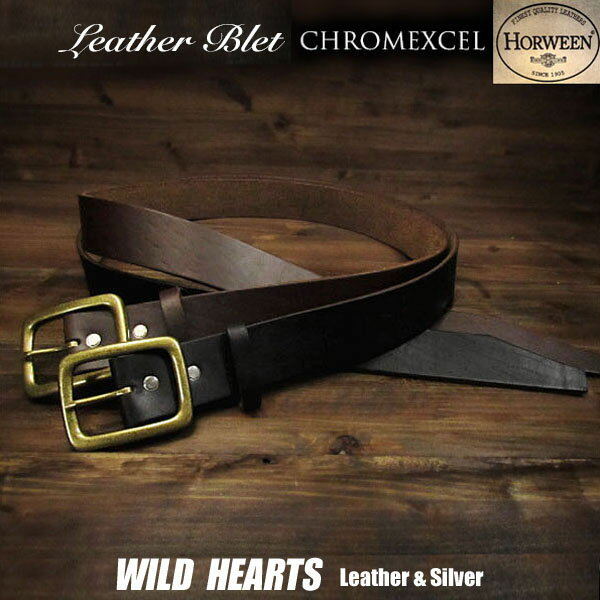 ベルト・サスペンダー, メンズベルト  Horween Horween Chromexcel Leather Belt Pin Buckle BrownBlackWILD HEARTS LeatherSilver (ID horweenbeltt57)