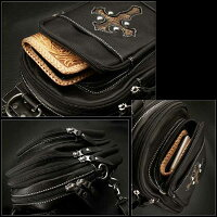 Leather,Backpack,Shoulder,Siling,Travel,Bag:WILD,HEARTS,Leather&Silver