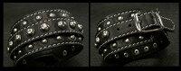レザーブレスレット/レザーリストバンド/牛革/黒/LeatherBracelet/LeatherWristBand