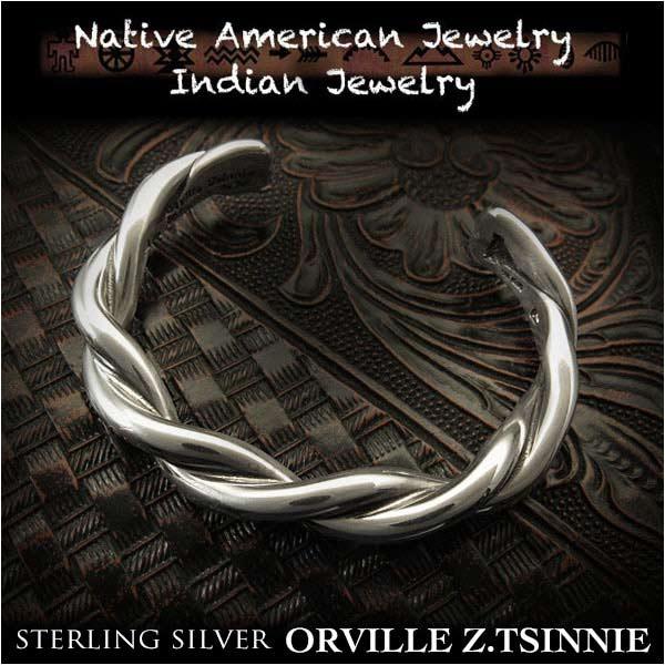 男女兼用アクセサリー, バングル  Orville Z.Tsinnie 925 Orville Z.Tsinnie twist cuff Native American Indian Jewelry Sterling Silver 925(ID na3201r73)
