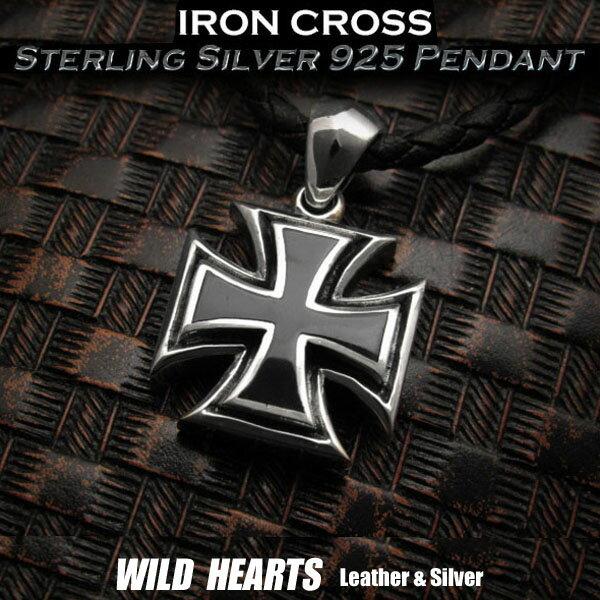 男女兼用アクセサリー, ネックレス・ペンダント  925Iron Cross Sterling Silver 925 Pendant WILD HEARTS LeatherSilver (ID pt3409)