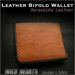 �ϳ�,����ޤ�,�׺���,�쥶��,������å�,���硼�ȥ�����å�,horsehide,leather,bifold,wallet,handmade