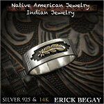 ����å��ӥ���/erick/begay/���/������/�ե�����/14��/ring/USA/size/#15/14k/gold/sterling/silver