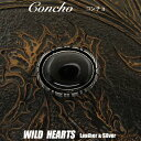 コンチョ/ウエスタン/インディアンジュエリー/concho/western/Indian jewelry WILD HEARTS LeatherSilver (ID co1262)