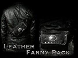 送料無料!レザーウエストバッグヒップバッグヒップポーチトラベルポーチ牛革/レザーブラック/黒LeatherTravelFannypackHipBagWaistBeltBag/PouchUnisexWILDHEARTSLeather&Silver(IDwb2781r30)