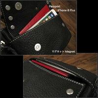 フロントポケットはiPhone6/6Plus/スマホやパスポートなどのポケットとして最適です