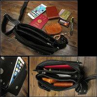 ウエストベルトはホック式で取り外し簡単で便利レザーウエストバッグ/ポーチ