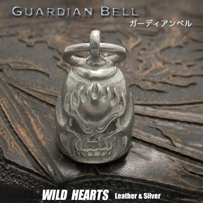財布・ケース, キーホルダー・キーケース  Guardian Bell Harley Accessory Motorcycle Ride Bell WILD HEARTS LeatherSilver(ID kh4029k5)