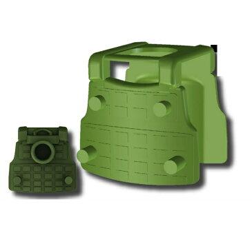 カスタムレゴ カスタムパーツ LEGO スワット 世界大戦 ポーチ装着可能 タクティカルベスト BS12 タンクグリーン