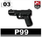カスタムレゴ カスタムパーツ LEGO 武器 ハンドガン アーミー 装備品 P99 海外 レゴ パーツ フィギュア