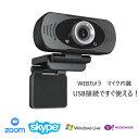 ウェブカメラ PWC-002BK マイク内蔵 1080P 200万画素 USB Webカメラ 会議カメラ マイク付き テレビ会議 チャットツール Skype Zoom オンライン授業 新品・・・