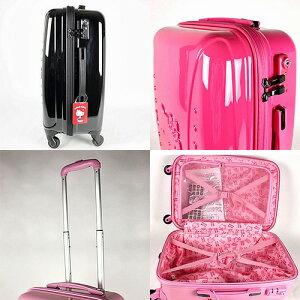 サンリオハローキティスーツケース/キャリーケース(SR678)キャリーバッグ高さ約61cmキティリボンライン柄【返品不可】