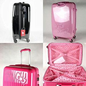 サンリオハローキティスーツケース/キャリーケース(SR679)キャリーバッグ高さ約70cmキティリボンライン柄【返品不可】