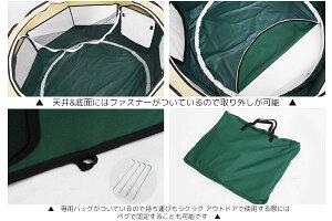 送料無料!!簡単組立天井付ペットゲージ犬用折り畳みケージトレー付