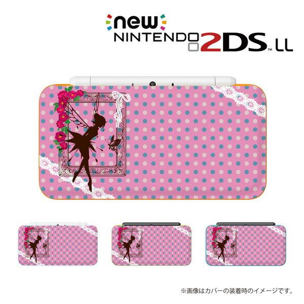 名入れできます★【new Nintendo 2DS LL/new Nintendo 3DS LL/ Nintendo 3DS LL 】 カバー ケース ハード new3dsll new2dsll 3dsll 2dsll / ティンカーベル ピンク ピーターパン メール便送料無料 任天堂 スリー ディーエス ニュー