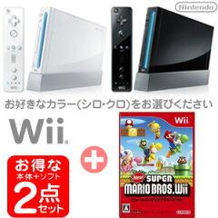 【新品】発売中!(2009年12月3日発売)【新品2点】任天堂Wii本体+ニュースーパーマリオブラザー...