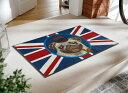 玄関マット British Pug 50x75cm (屋外・屋内兼用)...