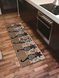 キッチンマットKatzenbande60x180cm(屋外・屋内兼用)