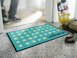 玄関マットWelcomeStars50x75cm(屋外・屋内兼用)