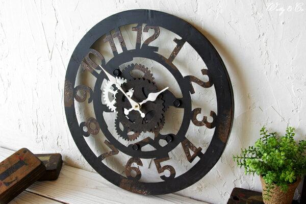 掛け時計 Cogwheel Arabic おしゃれ 掛時計 歯車
