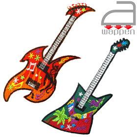 アイロンワッペン//エレキギターGuitar赤/レッド(PUNKErectric楽器パンクロック)