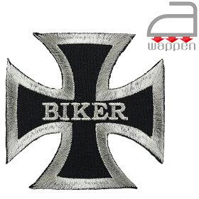 アイロンワッペン//クロス×バイカー(CROSSBIKER十字架)
