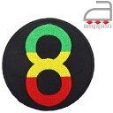 アイロンワッペン//RS12 エイトボール ブラック (スラング reggae ビリヤード)