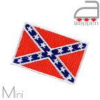 アイロンワッペン//レベル・フラッグ 南部海軍旗 ミニサイズ (Rebel バトル・フラッグ アメリカ連合国陸軍)