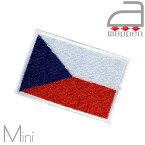 アイロンワッペン//Czech チェコ共和国国旗 ミニサイズ (プラハ Praha ボヘミアン 中東欧)
