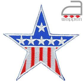 アイロンワッペン//スター星条旗デザイン(刺繍空軍エアフォースフライトジャケットUSA)
