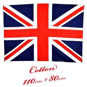 特大コットン製フラッグユニオンジャックイギリス国旗(布製UnionJackインテリアポスターイングリッシュロンドンMINI)
