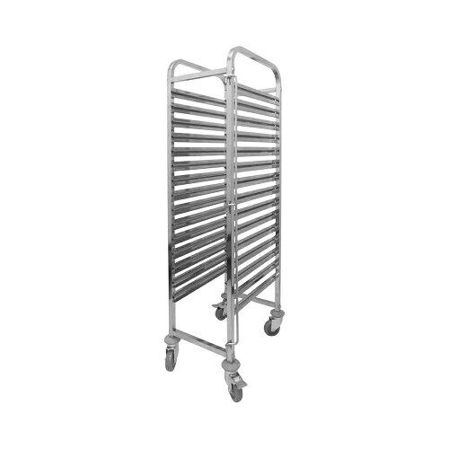キャスター付ステンレス製ラックカート15段 PRO-TR15【ベ...
