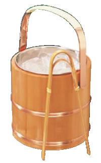 サワラ アイスペール (ステンレス仲子、トング付)【氷入れ】【アイスバスケット】【バー用品】【業務用厨房機器厨房用品専門店】