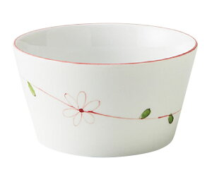 切立カップ ラインフラワー(赤)(817CBTC)【メープル】【おかるのキモチ】【軽量強化磁器】【皿】【カップ】【スープ】【業務用厨房機器厨房用品専門店】