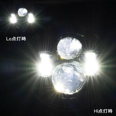 LEDヘッドライト40W7インチHiLo2個セットハーレーダビッドソンジープJEEP【】【配送種別:B】
