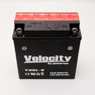 【ポイント倍】【宅配便のみ】【Velocity】バイクバッテリーYB5L-BGM5Z-3BFB5L-B互換対応1年保証密閉式(MF)液別(液付属)【あす楽対応】
