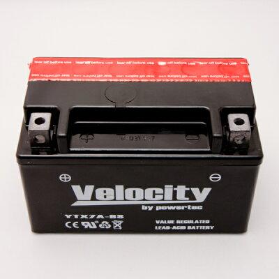【Velocity】バイクバッテリーYTX7A-BSGTX7A-BSFTX7A-BSKTX7A-BS互換対応1年保証密閉式(MF)液別(液付属)