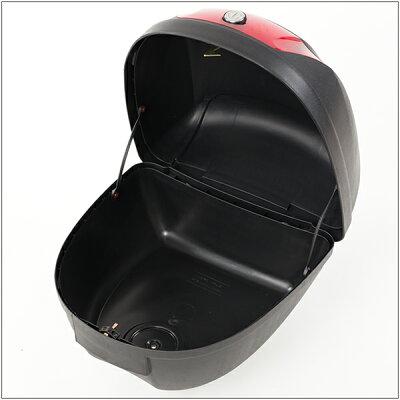 【Velocity】リアボックストップケースバイクボックス黒着脱可能式28リットル大容量原付【フルフェイス収納可能】【あす楽】【配送種別:B】