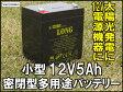 12V5Ah 高性能シールドバッテリー(完全密閉型鉛蓄電池) WP5-12 UPSにも! 05P03Dec16