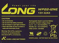 【高耐久】12V22Ah高性能シールドバッテリー(WP22-12NE)