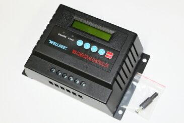 【送料無料】チャージコントローラー 12V(720W)/24V(1440W) システム両用 60A 液晶ディスプレイ付き(C2460-60A)12V系、24V系の両方のソーラーパネル対応しているチャージコントローラー!各種電圧任意設定可能