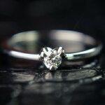 【送料無料】高品質天然ダイヤモンドリング【ハート枠】
