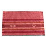 八重山ミンサー織り 新柄小マット(柄が少し変わりました)ランチョンマット ピンク系 石垣島産本場手織り レッド 赤 桃 臙脂 永遠の愛の証 みんさー織り