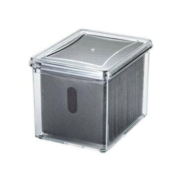 サンワサプライ ブルーレイディスク対応アクリルボックスケース(100枚収納) FCD-FBOX14CL【デジタルカメラ】