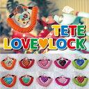 徳島双輪 TETE LOVE LOCK テテ ラブロック 南京錠 コイル状ワイヤー 鍵 キー key ナンバー式 番号式
