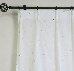 かわいい星柄ボイルレースカーテン02