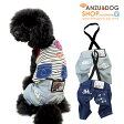【Anzudog】【犬服】 ペイント デニム サロペット カバーオール ドッグウエア トイプードル・ダックス・チワワ・ ヨーキー 小型犬 【ゆうパケット対応商品】