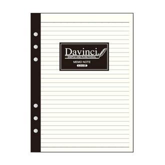 達·芬奇DAVINCI再菲爾A5尺寸事情記事本筆記本(6.5mm格)W148×H210mm 30張DA-DAR400