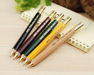 グッドデザイン賞受賞のレトロな鉛筆風シャープペンシル&ボールペン