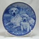 【送料無料】犬の絵皿・ラブラドール・レトリーバーの親子・#3010 (ドッグプレート)